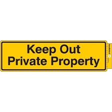 Sandleford Sign Keep Out Private Property Self Adhesive Bunnings Warehouse