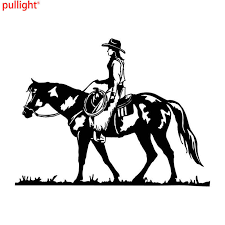 18 5 13 9cm Wild Rodeo Cowgirl Equestrian Car Stickers Covering The Body Taste Vinyl Decals Vinyl Decal Car Stickerstickers Cover Aliexpress