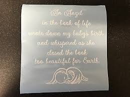 An Angel In The Book Of Life Split Vinyl Sticker Quote Ribba Box Frame Memory 2 99 Picclick Uk