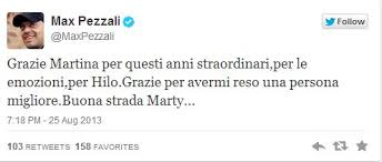 Max Pezzali lascia la moglie su Twitter
