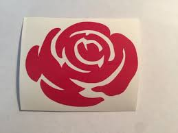 Rose Vinyl Decal Window Art Car Window Decal Flower Decal Etsy
