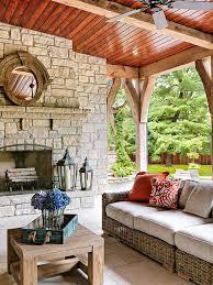 stone mantel better homes gardens
