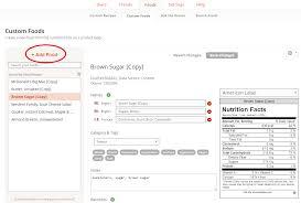 create a custom food cronometer