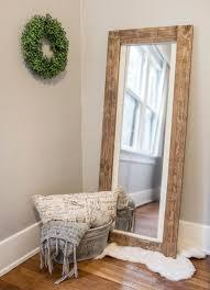 rustic floor mirror full length wooden