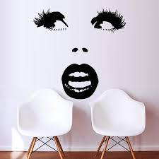 Amazon Com Eyelashes Eye Wall Decal Eyelashes Eye Wall Sticker Girls Eyes Eyebrows Wall Decor Beauty Salon Decoration Make Up Wall Decor M546 Handmade
