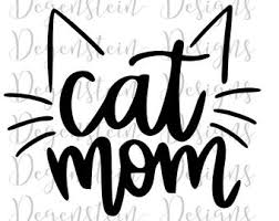 Cat Mom Decal Etsy