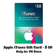 apple 50 apple itunes gift cards usa