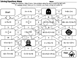 two step equations maze answer key
