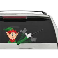 5 Star Super Deals 4036776 Rear Vehicle Car Window Moving Wiper Blade Tag Decal Sticker Christmas Snow Man Moving Hand Tag Walmart Com Walmart Com