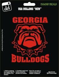 Georgia Bulldogs Dog W Spike Collar Vinyl Decal Uga Car Truck Window Sticker Ebay