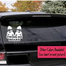 Twins On Board Car Decal Baby Twins On Board Car Sticker Etsy