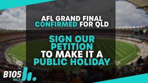 Public Holiday (for the AFL Grand Final ...