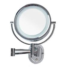 wall mounted shaving mirror with led