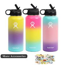 Hydro Flask Thermos Bottle Lid Sticker Wide Moth Portable Girl Water Bottles Sport Vacuum Flasks Termo Water Tumbler 18oz 32oz Vacuum Flasks Thermoses Aliexpress