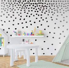 Amazon Com Black Irregular Dots Wall Decal Minimalist Geometric Decal For Kids Bedroom Classroom Decoration 240pcs Dots Sticker Arts Crafts Sewing