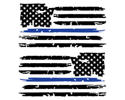 Set Of 2 Distressed Tattered Usa American Flag With Thin Police Blue Line Vinyl Decal Sticker For Jeep Truck Car Wi American Flag Decal Flag Decal Mirror Decal