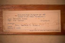 Lot - BALCOMB (JOHN WESLEY) GREENE, (American, 1904-1990), THE HARBOR, oil  on canvas, 44 x 54 in. (45 1/2 x 55 1/2 in.)