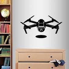 Amazon Com In Style Decals Wall Vinyl Decal Home Decor Art Sticker Drone With Camera Robot Technology Kids Bedroom Living Room Removable Stylish Mural Unique Design 2081 Home Kitchen