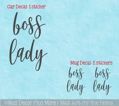 Cup Tumbler Or Car Decal Boss Lady Office Gift Cursive Lettering Sticker