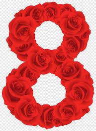 رقم الأحمر الورود الحمراء الرقم خمسة أحمر 5 التوضيح الحب