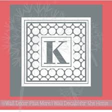 Dotted Monogram Letter Custom Personalized Vinyl Decal Sticker Stencil For Glass Etching