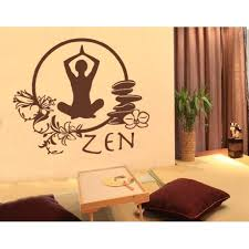 Zen Meditation Wall Decal Wall Sticker Vinyl Wall Art Home Decor Wall Mural 1810 16in X 14in Black Walmart Com Walmart Com