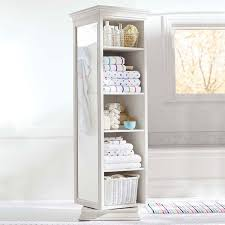 white rotating storage mirror unit