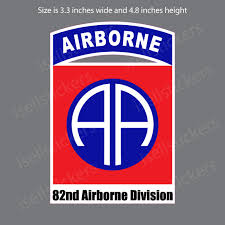 82nd Airborne Division Army Fort Bragg Bumper Sticker Car Window Decal