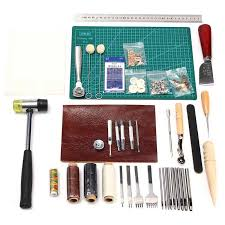 leather crafting tools kit sewing