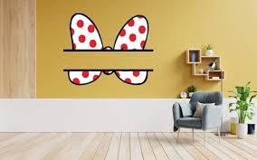 Design With Vinyl Minnie Mouse Bow Vinyl Wall Decal Wayfair