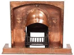 vintage copper fireplace insert