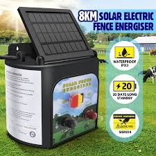 8km Solar Electric Fence Energiser 0 3 Joule Low Impedance Fence Charger Cattle Horses Crazy Sales