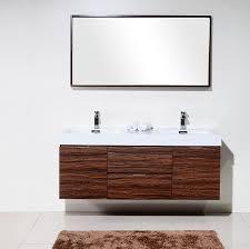 walnut wall mount double sink vanity