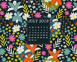 july 2018 desktop calendar latest