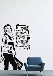 Amazon Com Banksy Wall Decals Decor Vinyl Sticker Lm1206 Home Kitchen