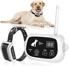 Amazon Com Wireless Dog Fence Pet Containment System Pets Dog Containment System Boundary Container With Ip65 Waterproof Dog Training Collar Receiver Adjustable Range Harmless For All Dog White Pet Supplies