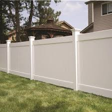 Freedom Ready To Assemble Bolton 6 Ft H X 8 Ft W White Vinyl Flat Top Fence Panel In The Vinyl Fence Panels Department At Lowes Com