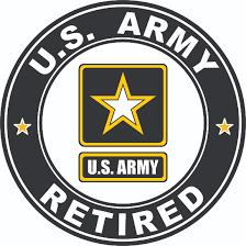 Army Retired Vinyl Decal