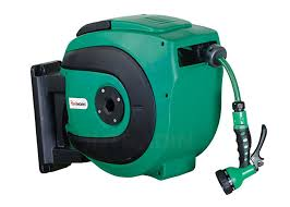 air and water spring driven hose reel