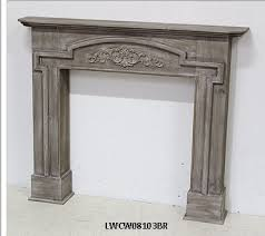 french country vintage wood fireplace