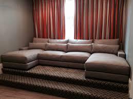 media room custom sectional sofa