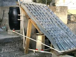 homemade solar water heater with pet
