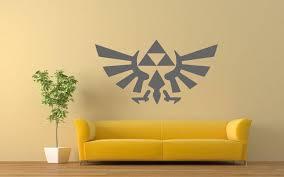 The Legend Of Zelda Triforce Wall Decals Link Vinyl Sticker Game Mural Decal Vinyl Decals Game Decal By Creamarts O Kids Room Murals Geek Decor Wall Decals