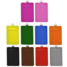 holder pu leather vertical id badge