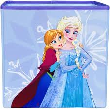 Amazon Com Frozen Else And Anna Collapsible Storage Bin By Disney Cube Organizer For Closet Kids Bedroom Box Nursery Chest Foldable Home Decor Basket Container With Strong Handles And Design Home