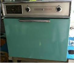 vtg turquoise wall oven only working ge