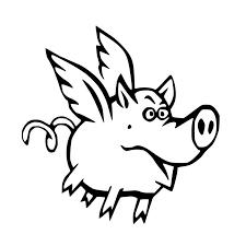 Sassy Flying Pig Vinyl Car Sticker Decal Flying Pig Gifts