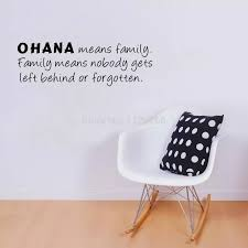 Ohana Means Family Quote Wall Sticker Art Vinyl Lettering Words Wall Decal Home Decor Home Decor Family Quoteswall Sticker Aliexpress