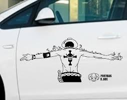 Dew Design One Piece Ace Luffy S Brother Cartoon Car Sticker Style For Car Full Body Door Window Car Accessories Dec Car Stickers Car Cartoon Car Accessories