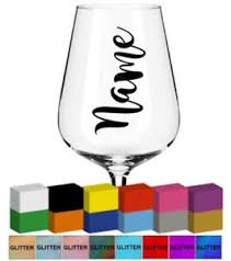 Wedding Champagne Flute Name Vinyl Glass Mug Decal Sticker Graphic Ebay